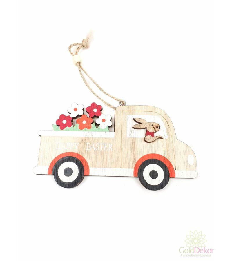 Virágos nyuszi teherautó
