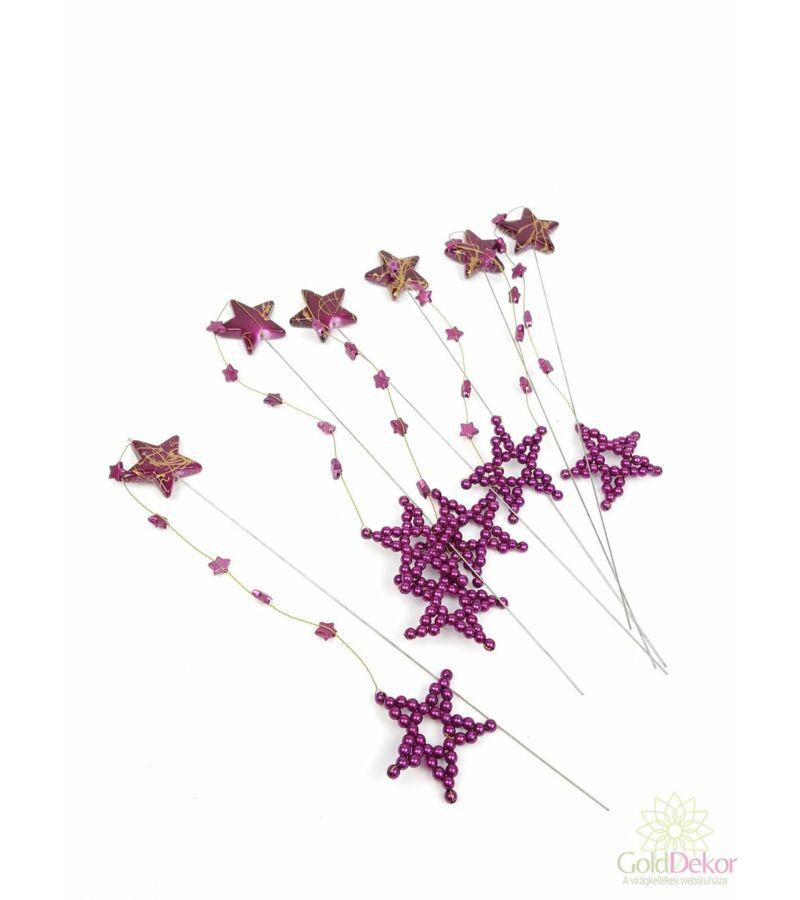 Drótos csillag betűző szett - Lila