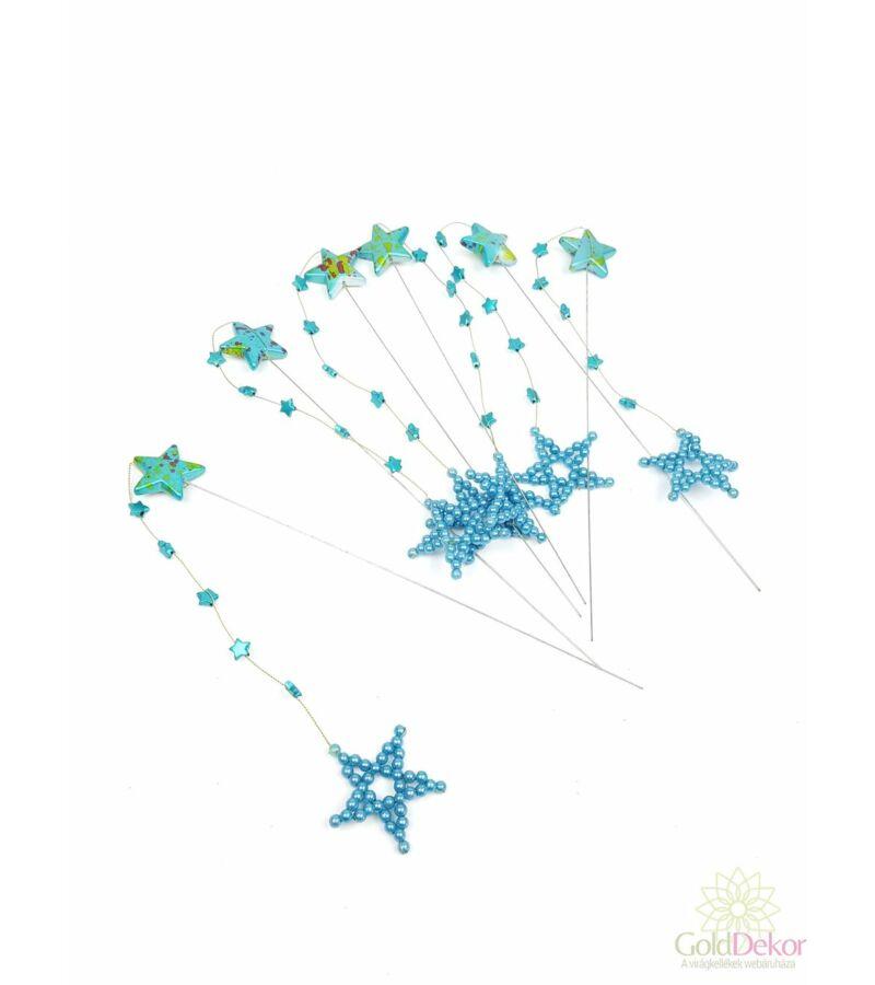 Drótos csillag betűző szett - Kék