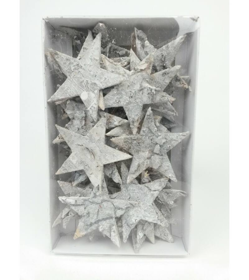 Nyírfa csillag 7 cm- hamvas