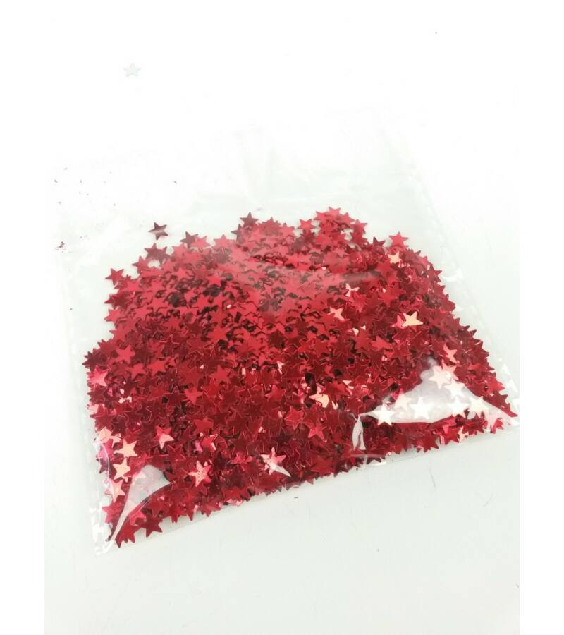 Csillag konfetti - piros