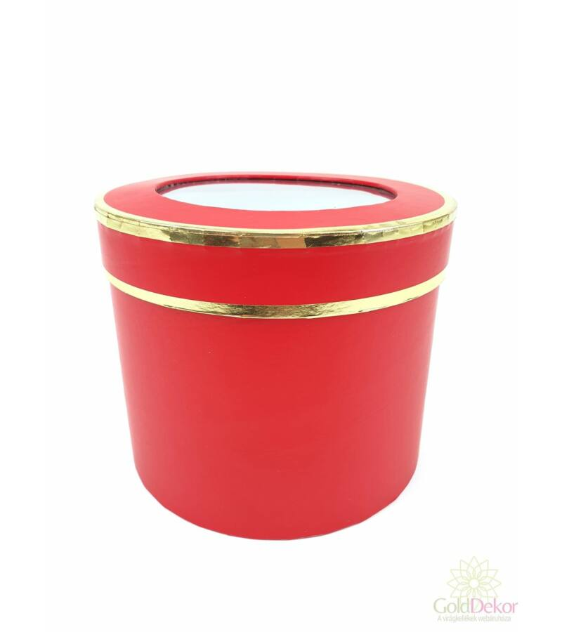 Aranyperemes henger doboz - Piros