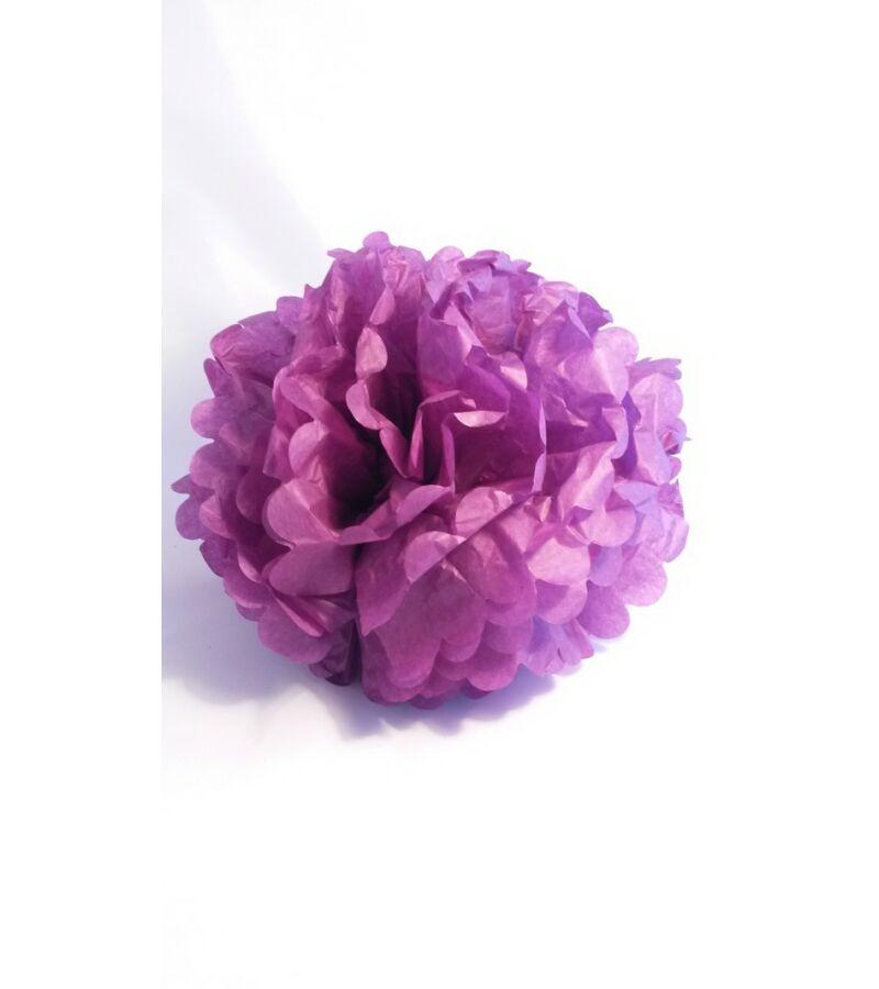 Papír dekor virág gömb - LILA