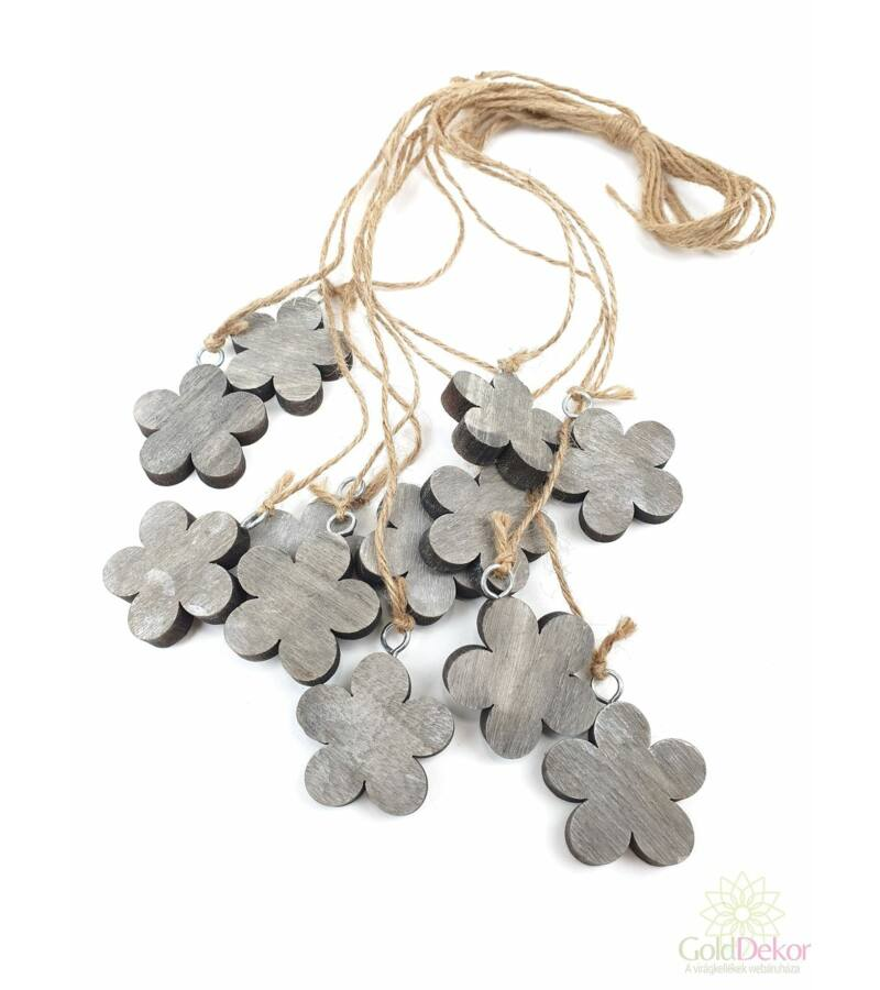 Fa virág-4*12-Szürke