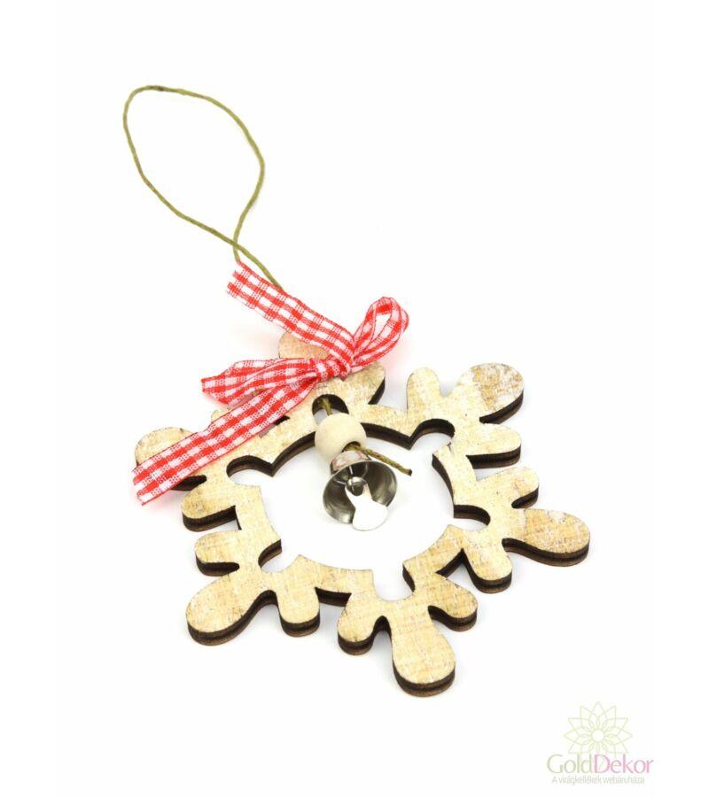 Kockás masnis fa dísz - Fenyőfa
