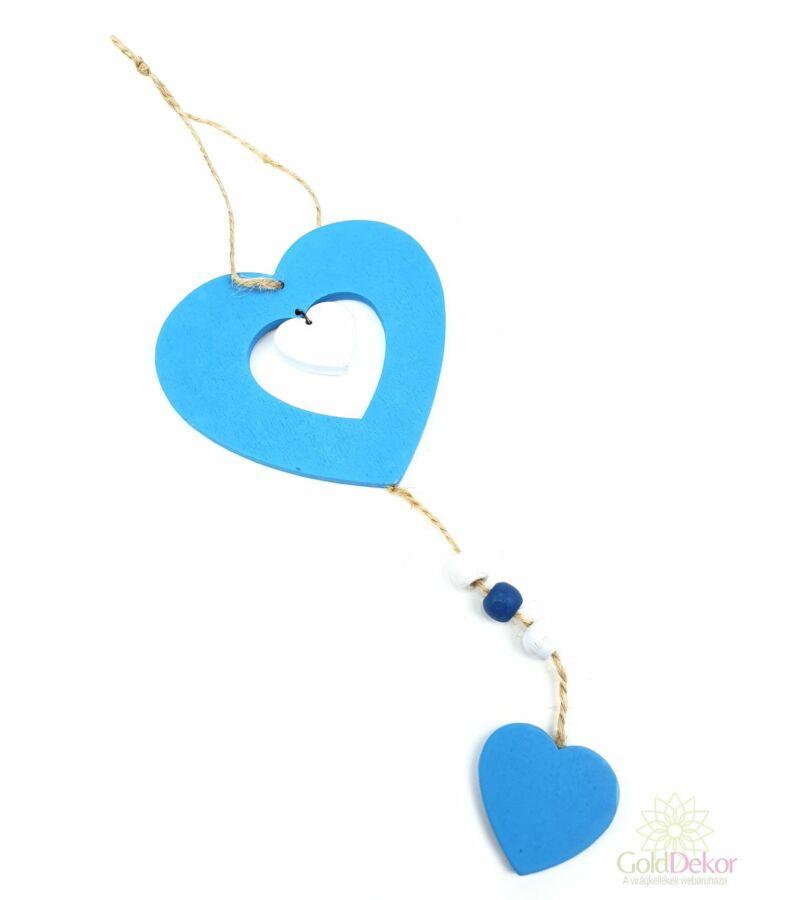 Fa szív függő - Kék
