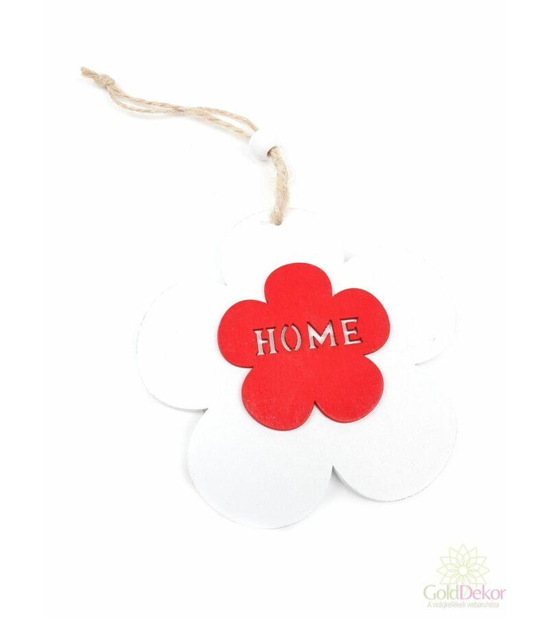 """Akasztós fa virág """"Home"""" - Fehér"""