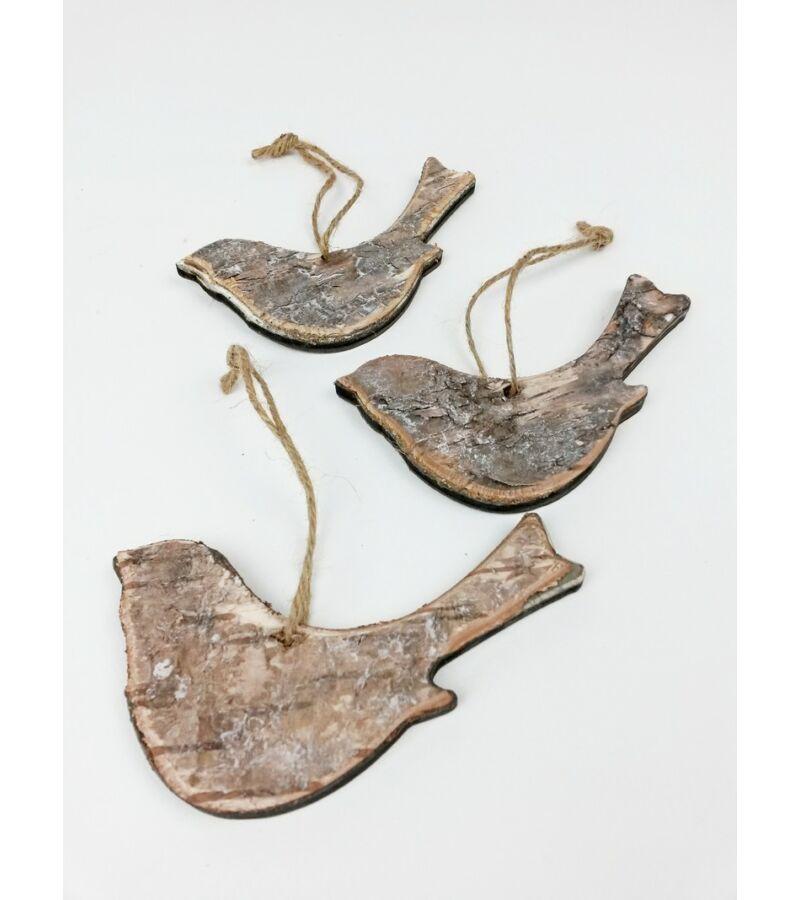 Akasztós nyírfa madár szett*3