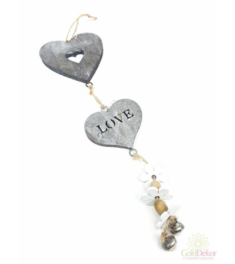 Fa szív love girland