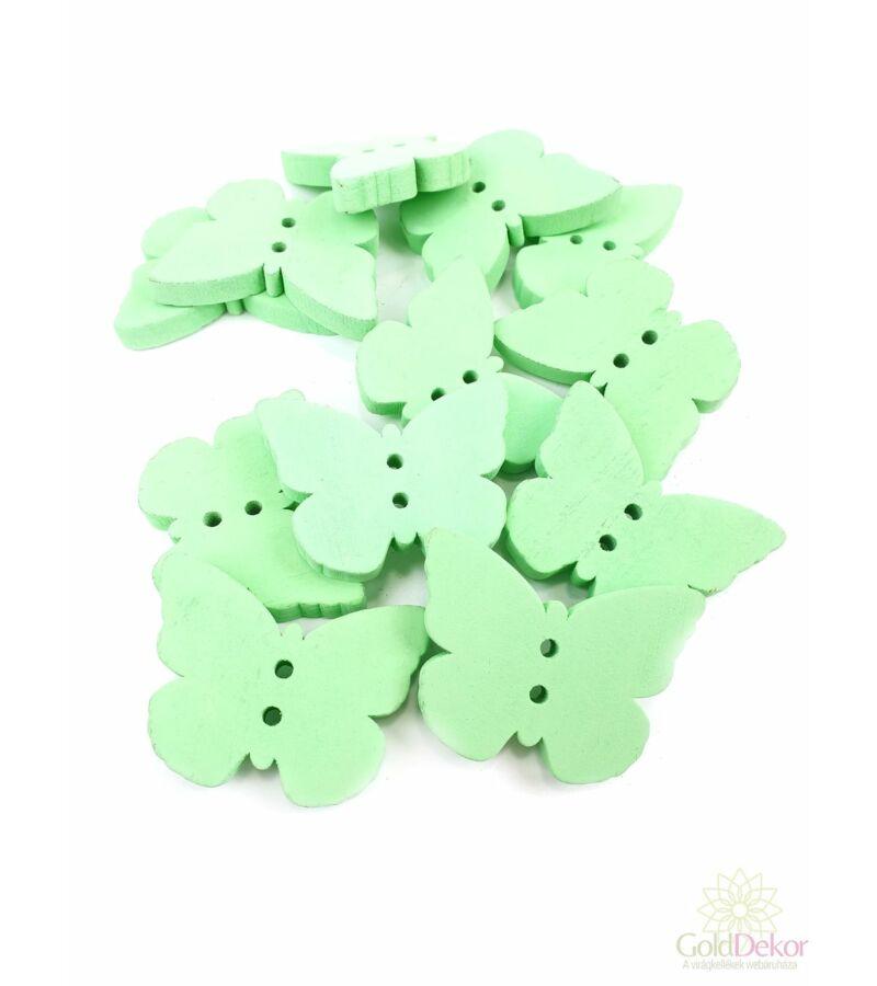 Fadekor pasztel gomb lepke - zöld