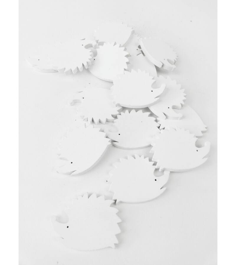 Fa dekor süni kicsi - Fehér