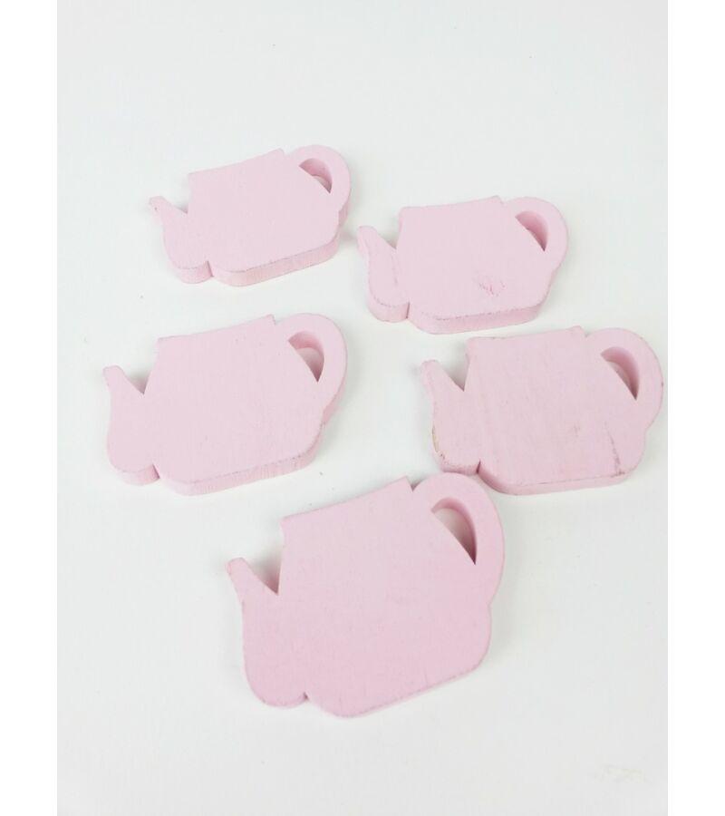 Fa kancsó szett*5 - Rózsaszín