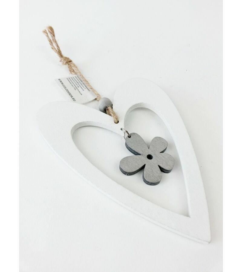 Akasztós fa szv virággal - Fehér