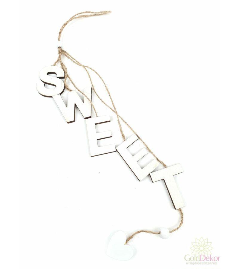 Zsinórós felirat szett -Fehér