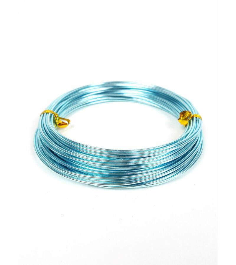 Aluminium dekor drót - Világos Kék