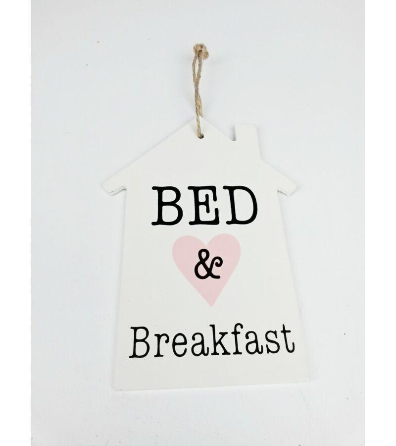Feliratos dekor tábla ház - Bed