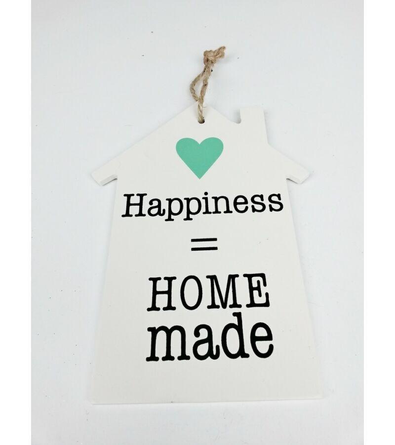 Feliratos dekor tábla ház - Homemade