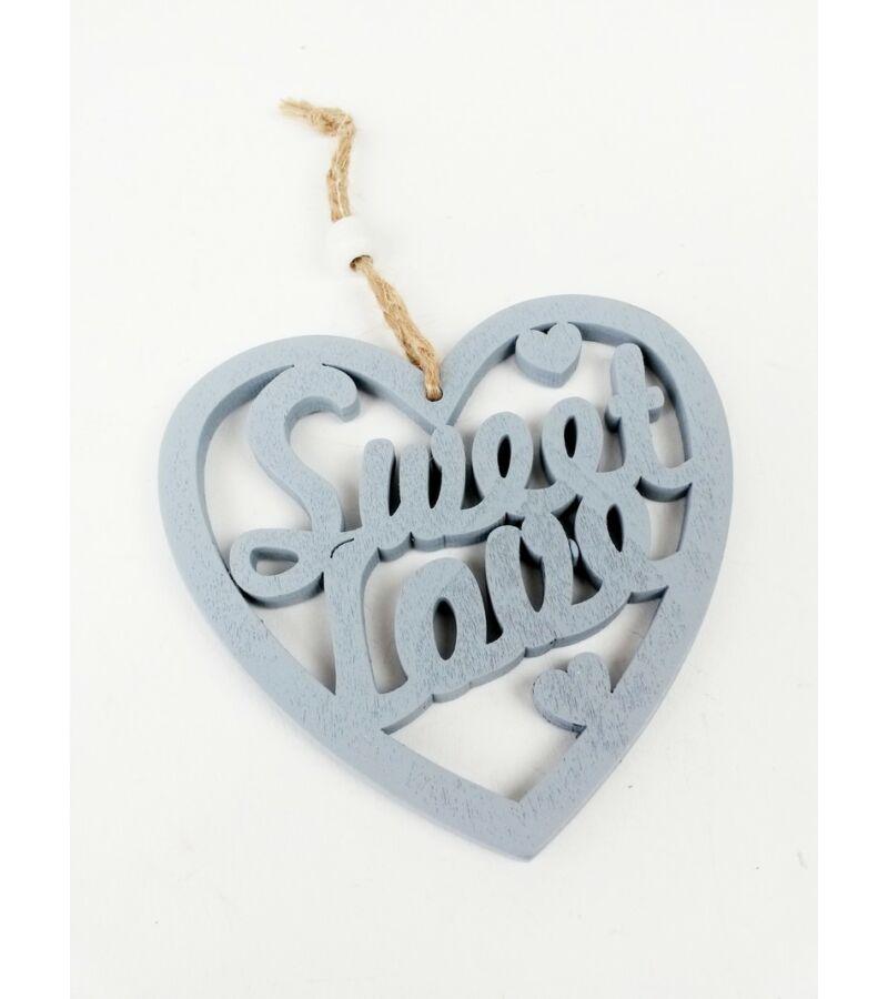Sweet Love akasztós szív - Szürke