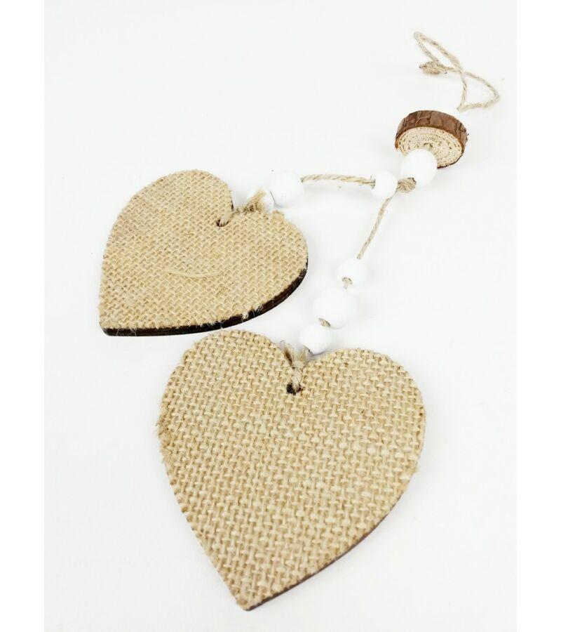 Zsákos fa szív pár