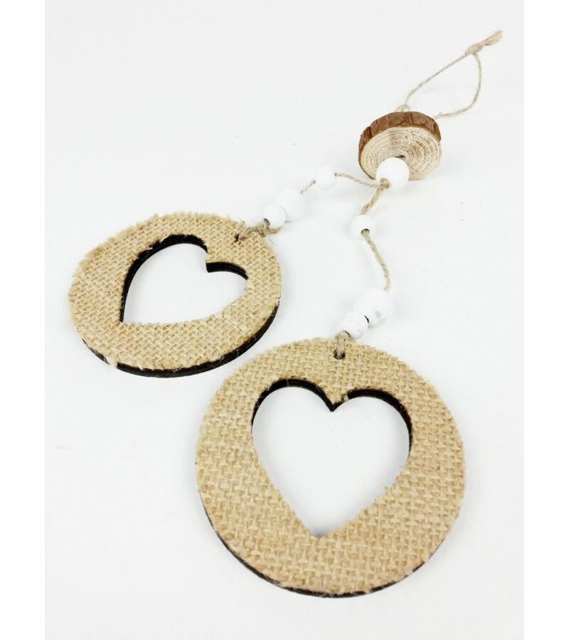 Zsákos fa lyukas szív pár