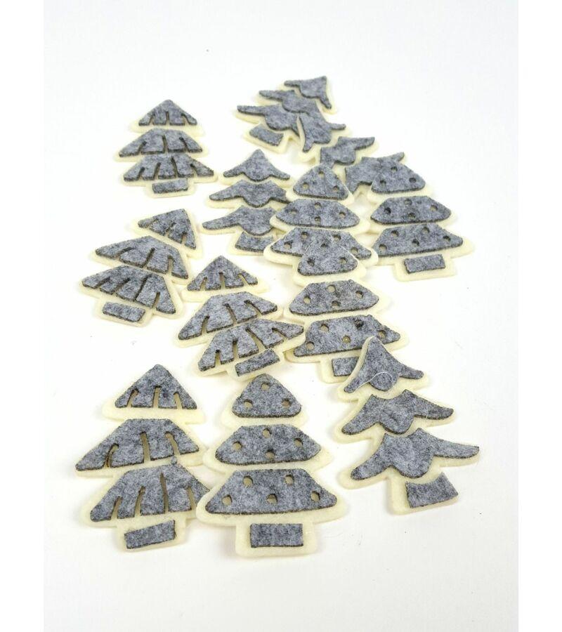 Filc fenyőfa szett - Szürke