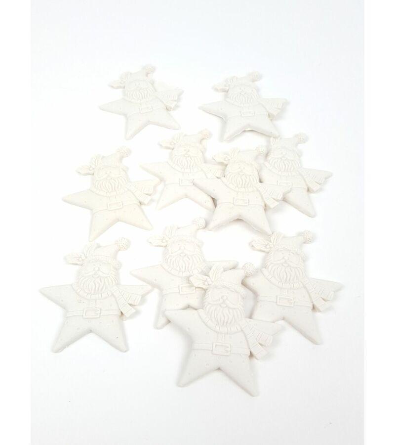 Polyresin csillag télapó*10
