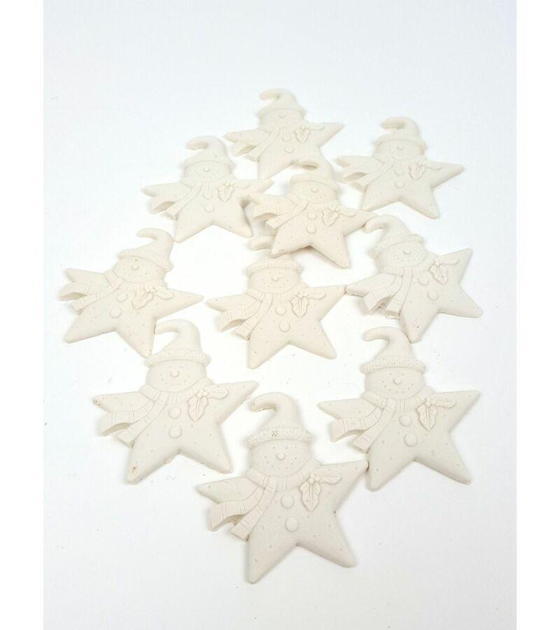 Polyresin csillag hóember*10