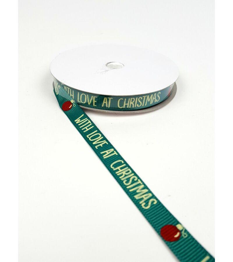 Karácsonyi szalag 1 cm - Feliratos