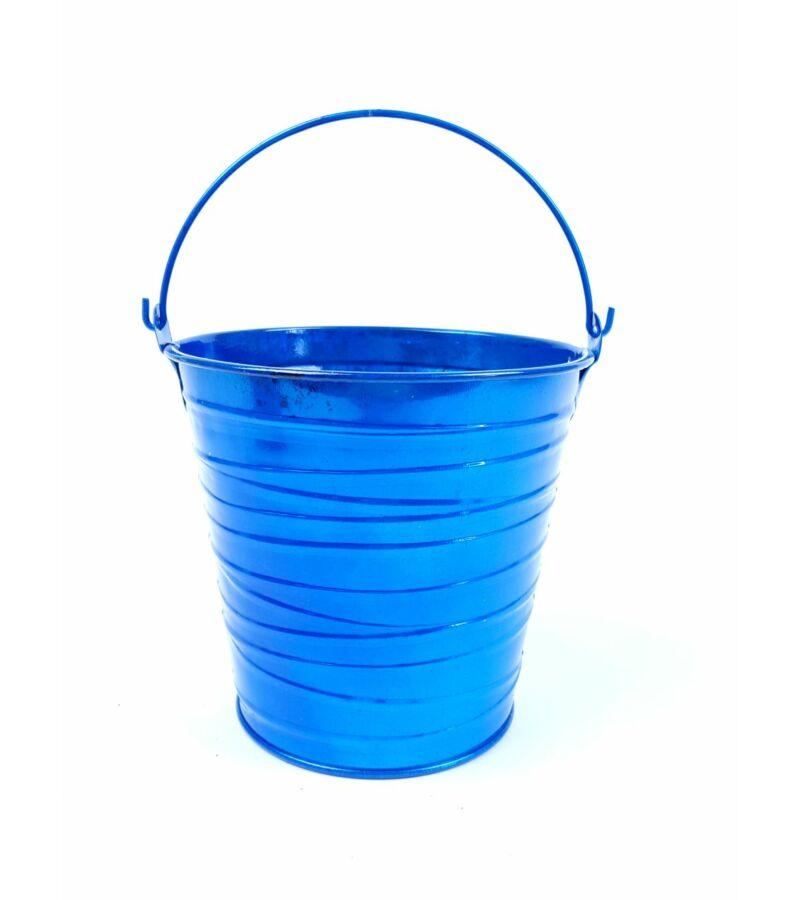Metál bádog vödör - Kék