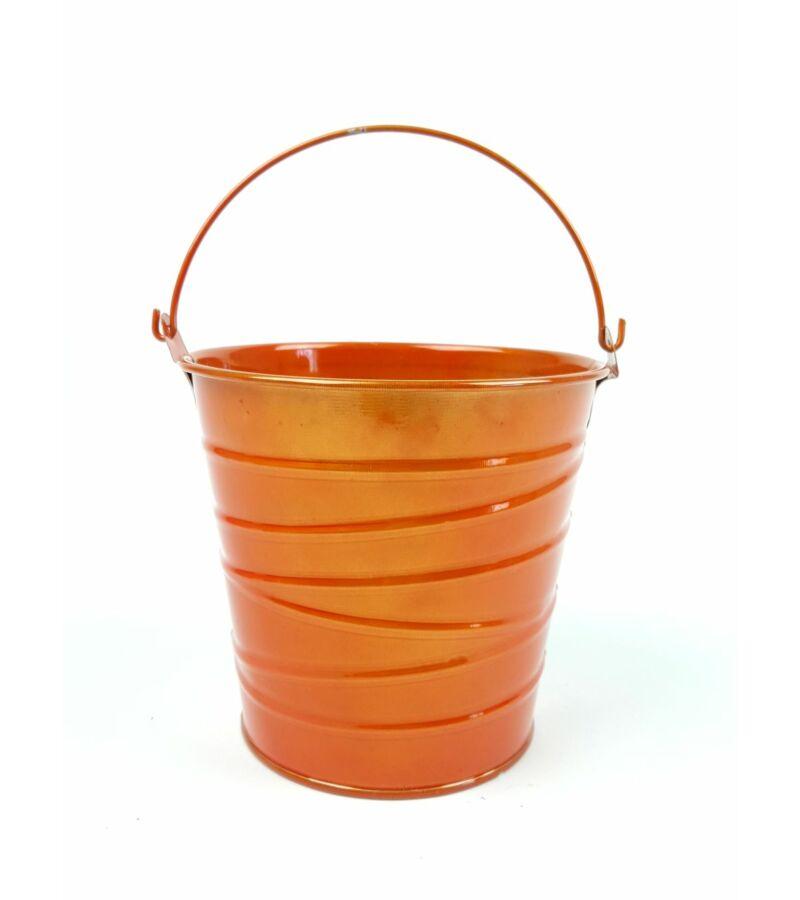 Metál bádog vödör - Narancs