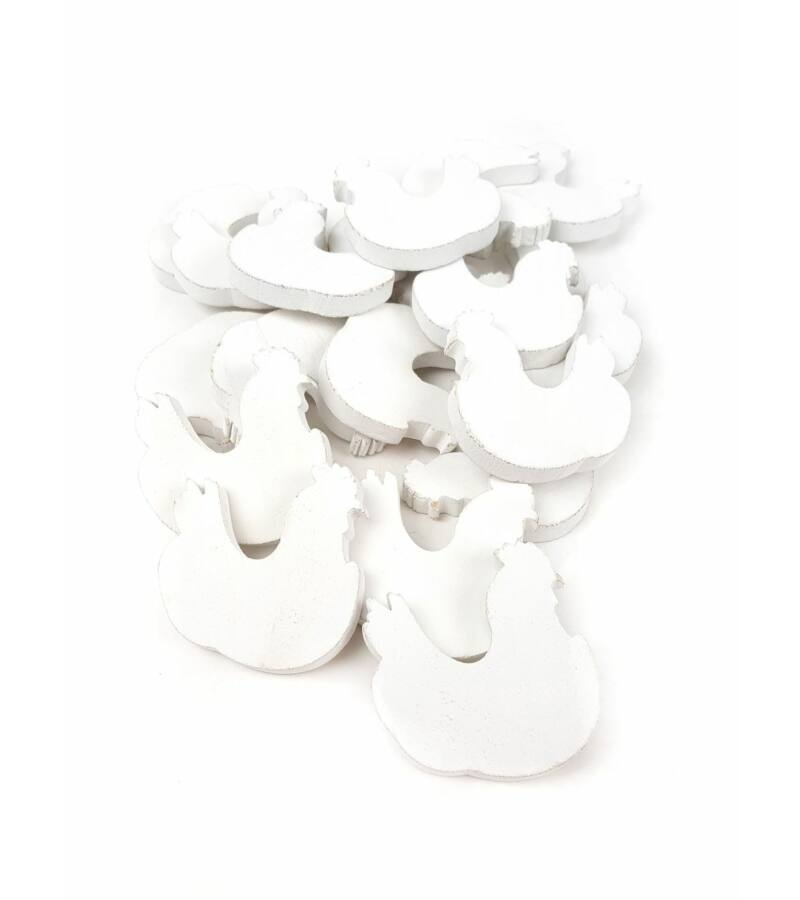 Fa dekor tyúk - Fehér