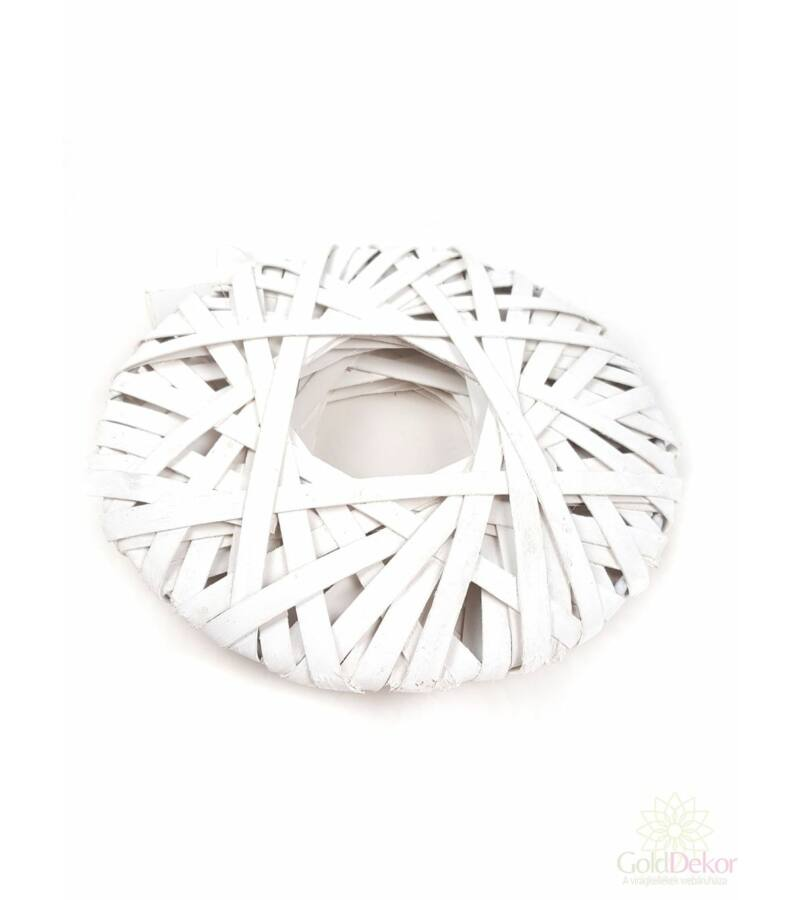 Lapos alap 20 cm - Fehér