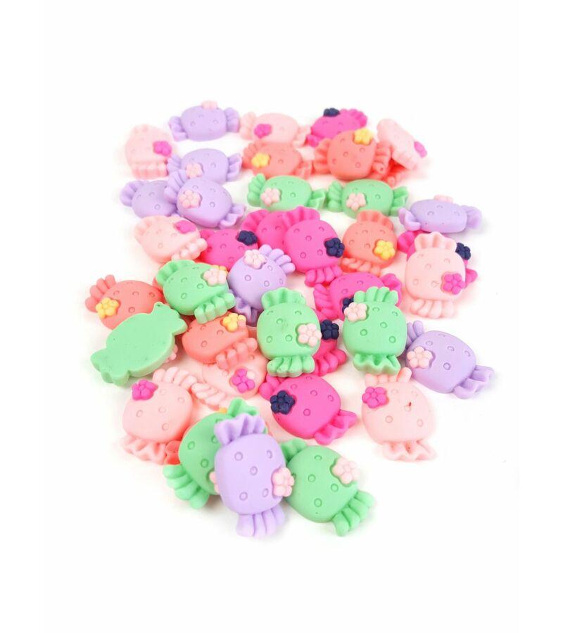 Műanyag dekor - Virágos cukor