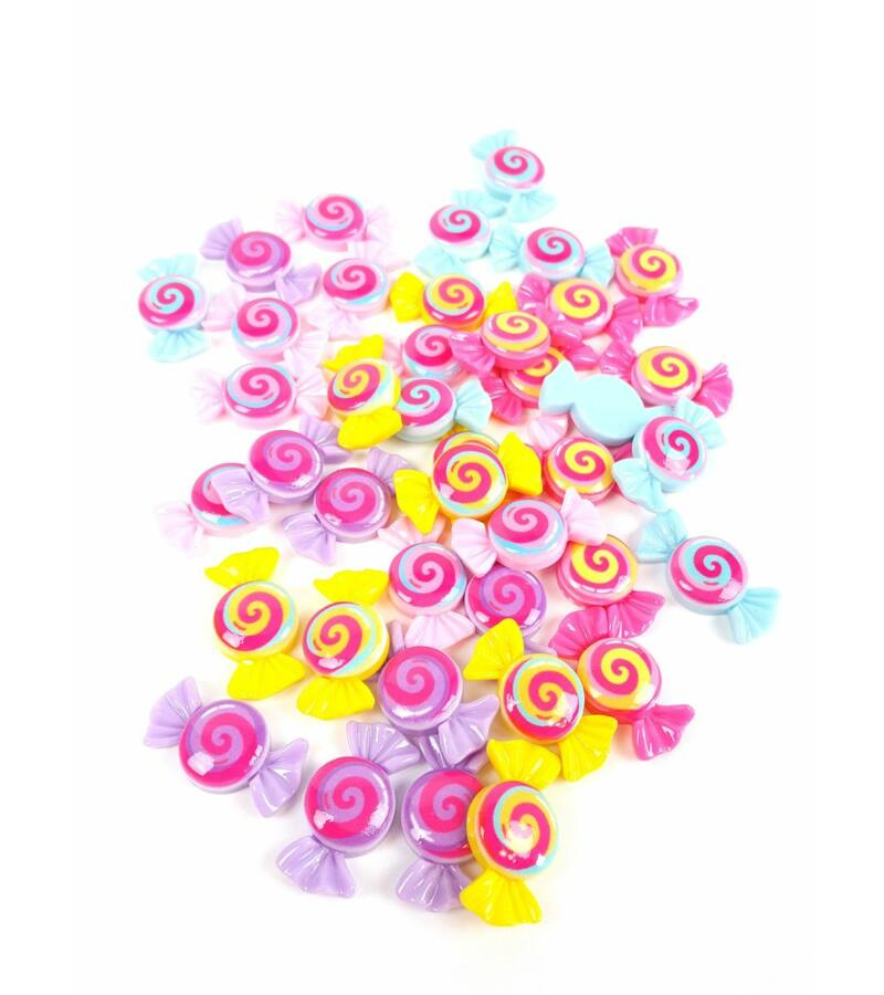 Műanyag dekor - Kerek spirál cukor