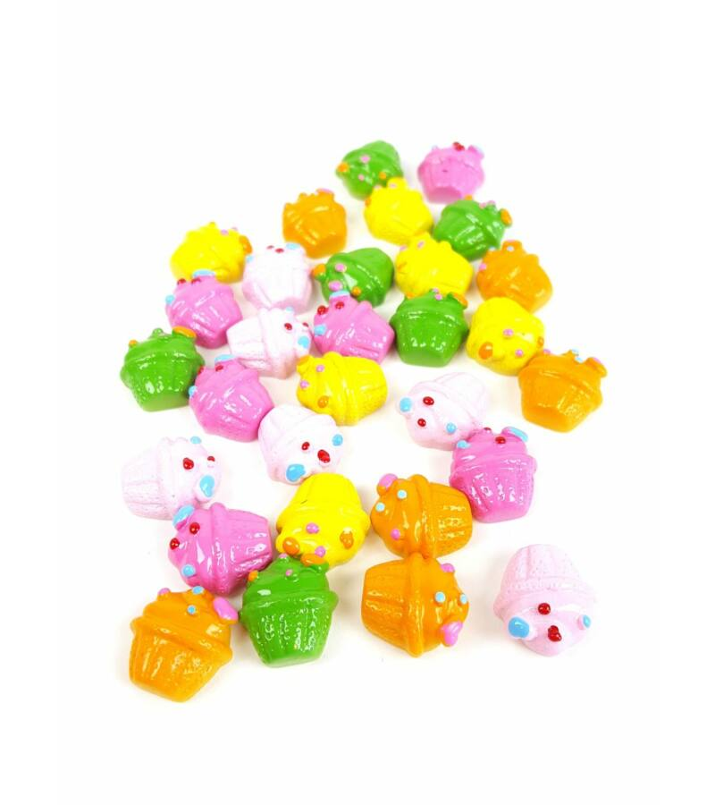 Műanyag dekor - Szíves muffin