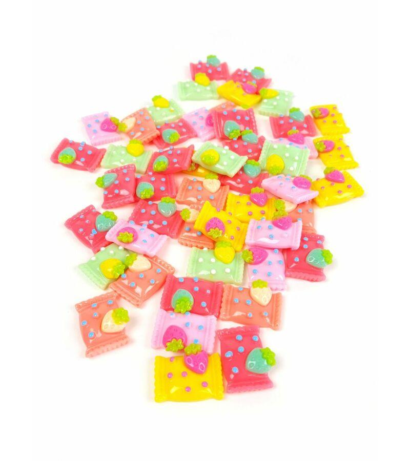 Műanyag dekor - Zacskós epres cukor