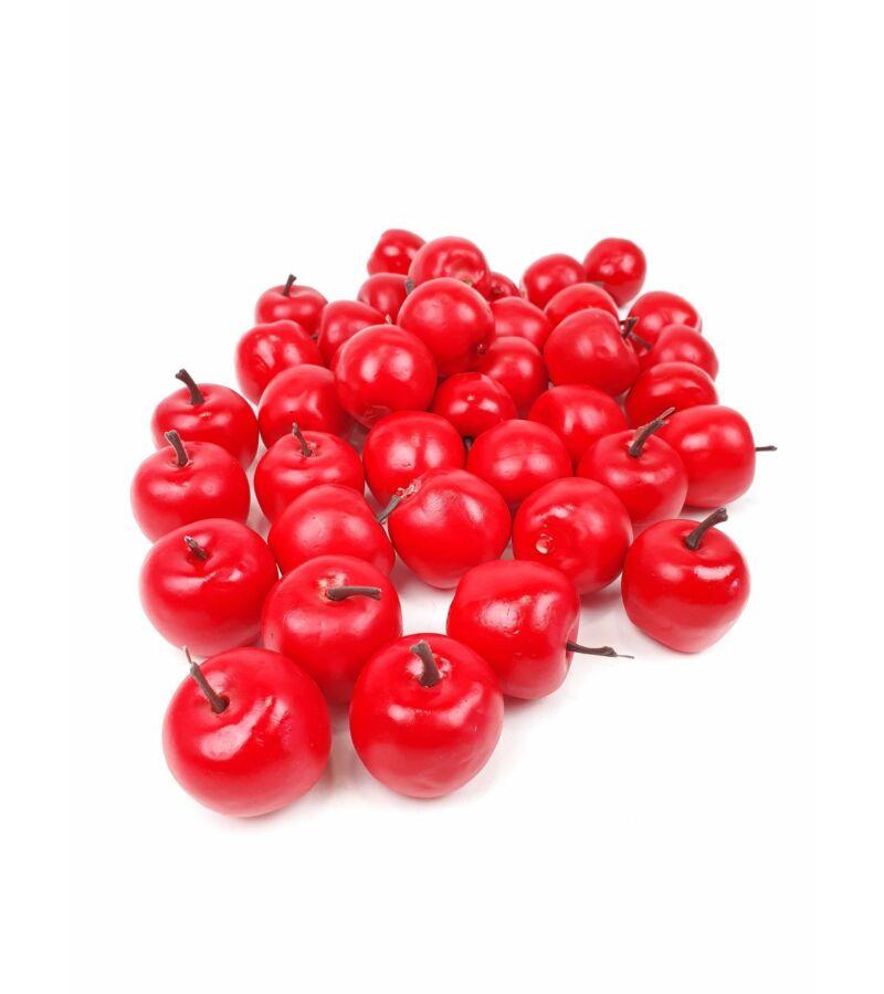 Műalma matt piros 3,5 cm*40