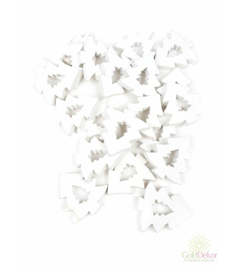 Fa dekor lyukas fenyő*20 - Fehér