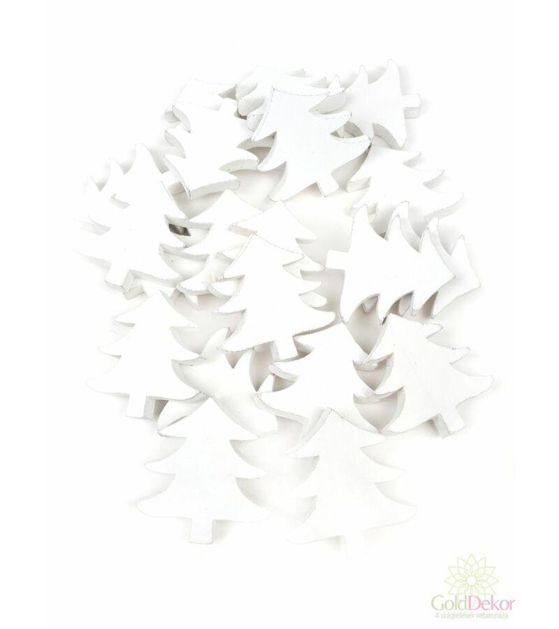 Fa dekor fenyőfa - fehér