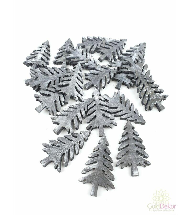 Fa dekor fenyőfa*20 - Szürke