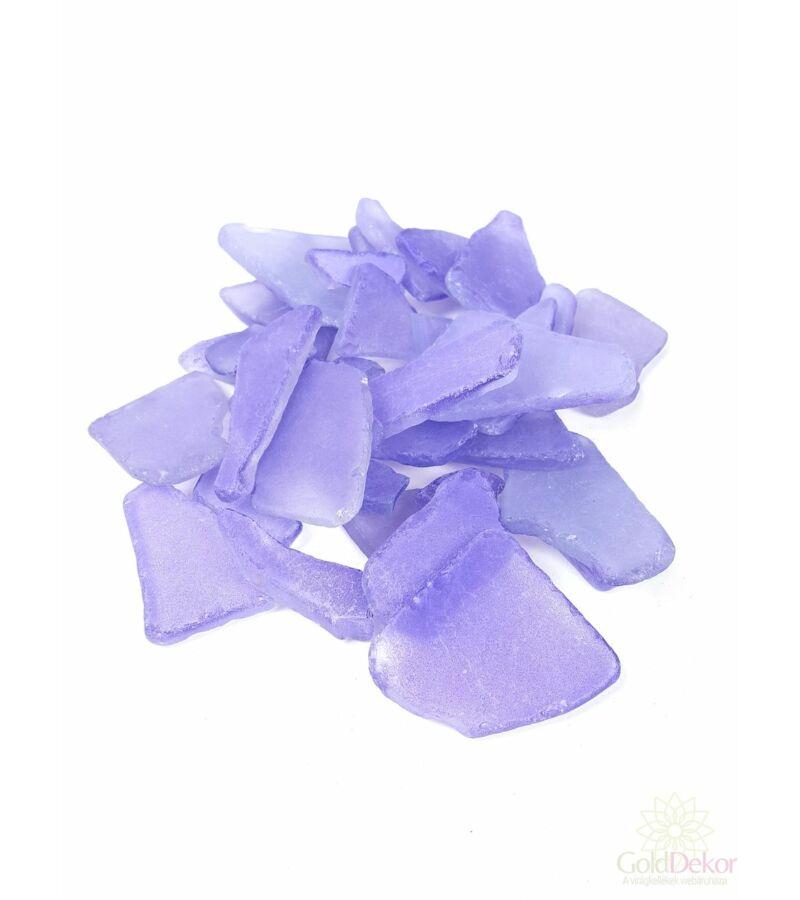 Dekor üveg kristály - Lila