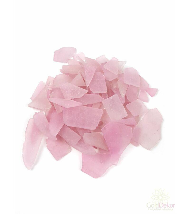 Dekor üveg kristály - Rózsaszín