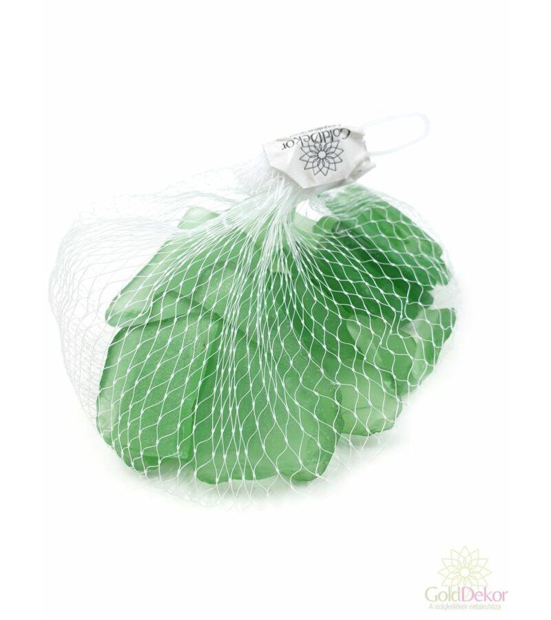Dekor üveg kristály - Zöld
