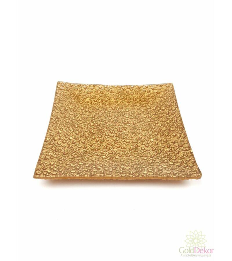 Üvegtál 14,5*14,5 cm - Arany