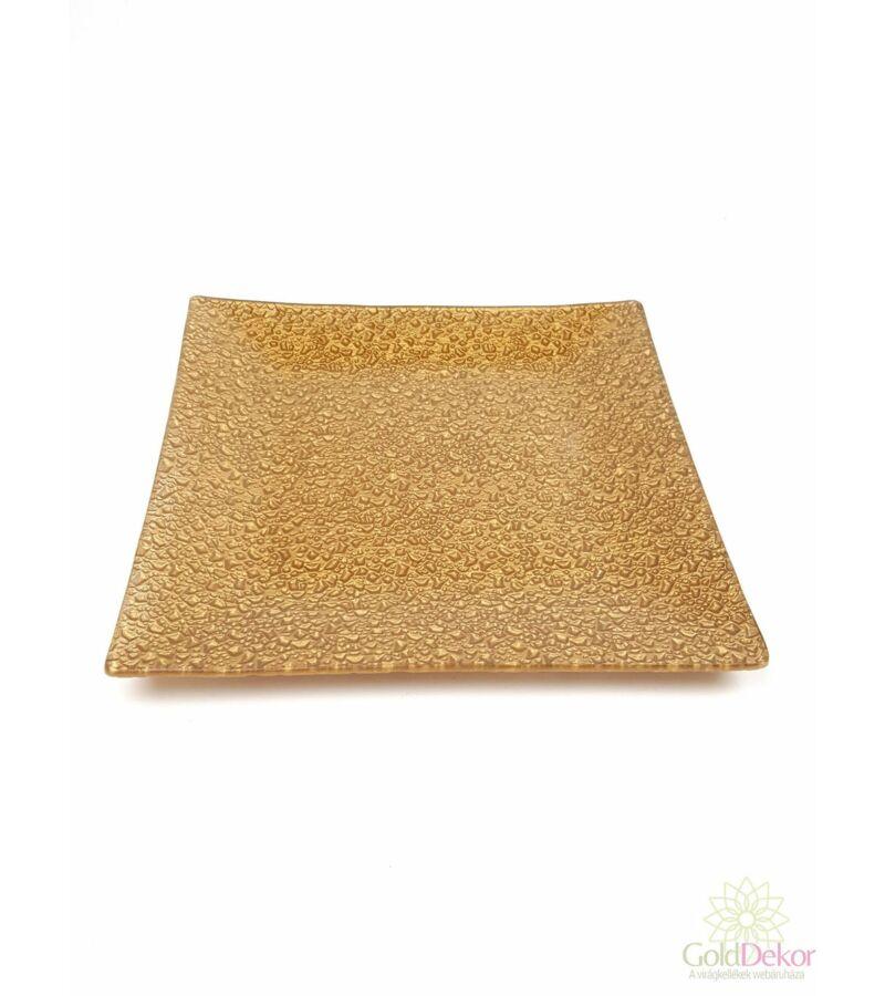 Üvegtál 19,5*19,5 cm - Arany