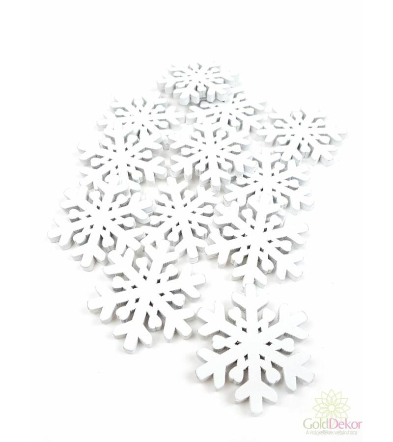 Fa dekor - Hópehely 5 cm