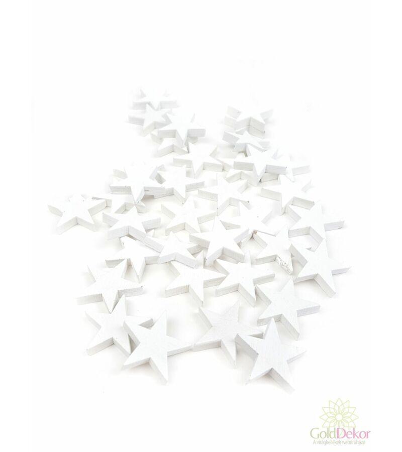 Fa dekor apró csillag - Fehér