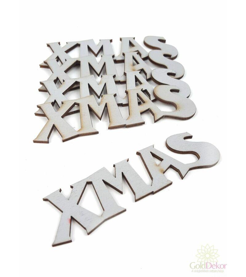 Fa felírat kicsi XMAS - Szürke