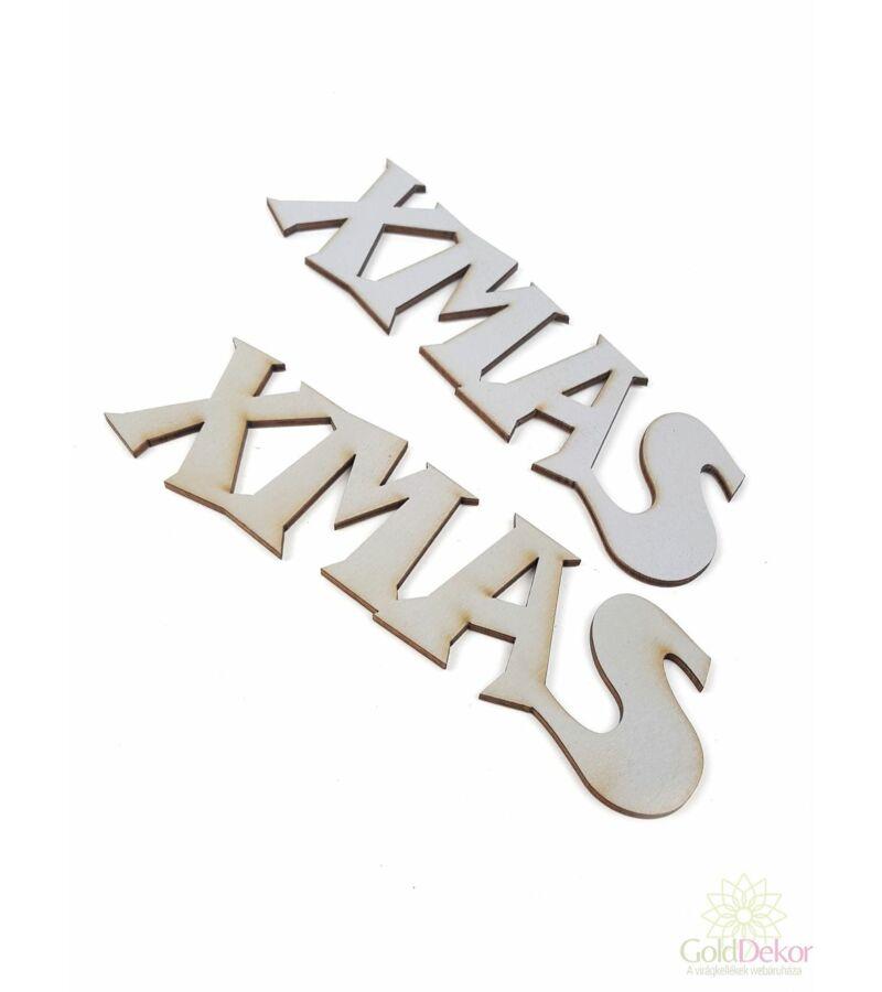 Fa felírat nagy XMAS - Szürke