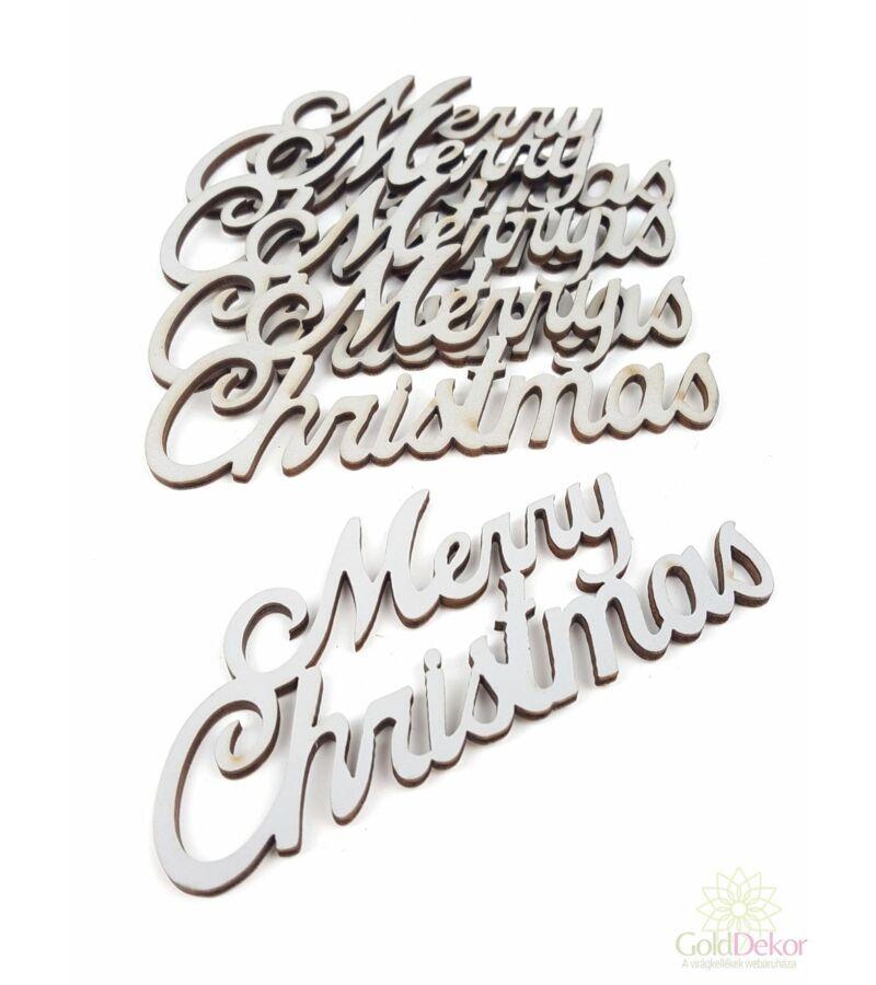 Fa felírat kicsi MERRY CHRISTMAS - Szürke